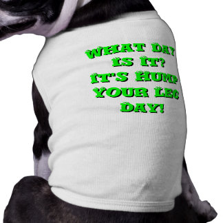 What Day Is It It s Hump Your Leg Day Pet Tshirt