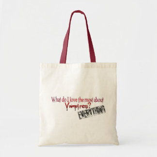 What do I like the most about Vampires? Budget Tote Bag