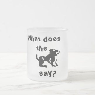 What do the beast say? frosted glass mug