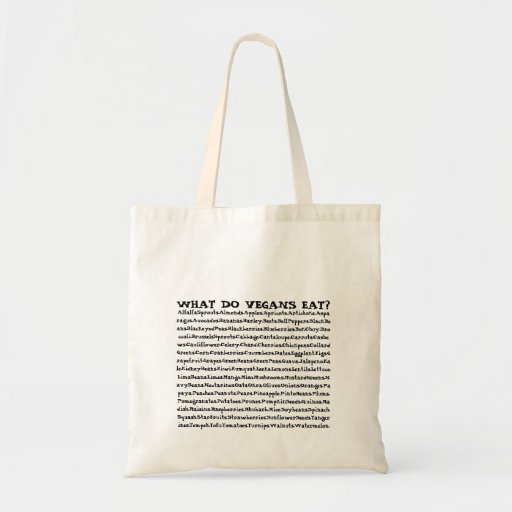 What Do Vegans Eat? Canvas Bag