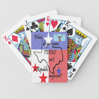 What do You Mean Texas Isn't a Republic Bicycle Playing Cards