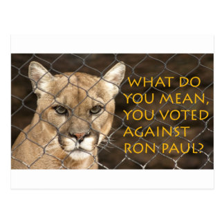 What do you mean you voted against Ron Paul? Postcard