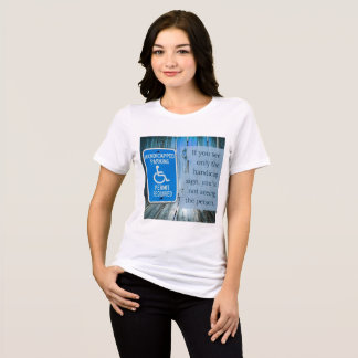What do you see? Handicap sign T-Shirt