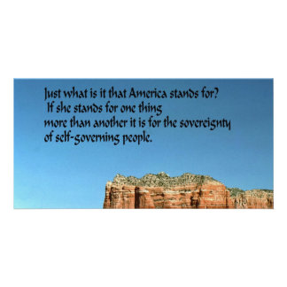 What does America stand for Photo Card Template