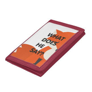 WHAT DOES HE SAY TriFold Nylon Wallet