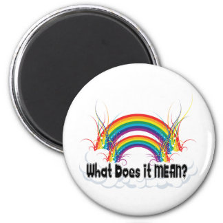 WHAT DOES IT MEAN? DOUBLE RAINBOW MAGNET