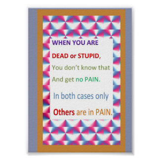 What does it mean to be SUPID or DEAD Poster