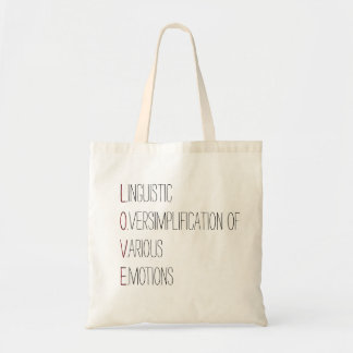 What Does LOVE mean? Budget Tote Bag