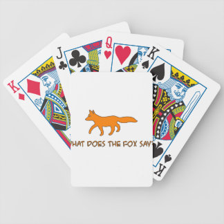 what does the fox say bicycle playing cards