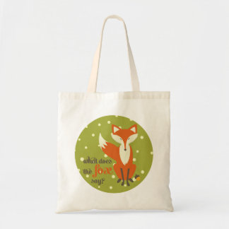 What Does the Fox Say | Canvas Tote Bag