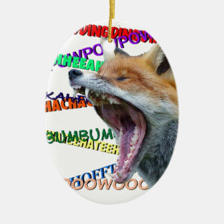 What Does the Fox Say? Christmas Ornament