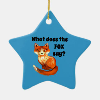 What Does the Fox Say Clothing and Gifts Christmas Ornament