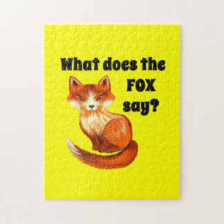 What Does the Fox Say Clothing and Gifts Jigsaw Puzzle