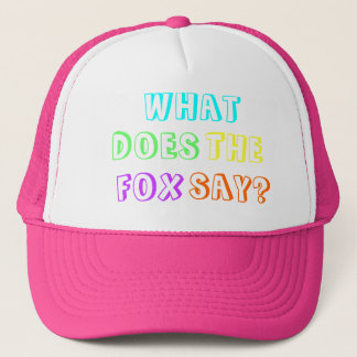 'What does the fox say?' Fashion Cap