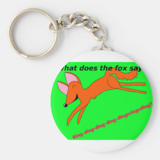 What does the fox say? key ring