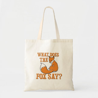 What Does The Fox Say? Budget Tote Bag