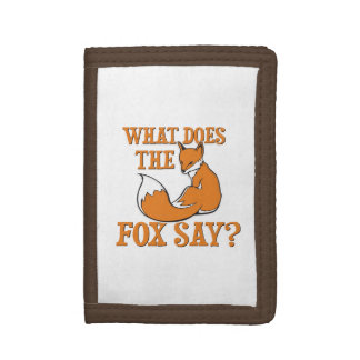 What Does The Fox Say? Trifold Wallet