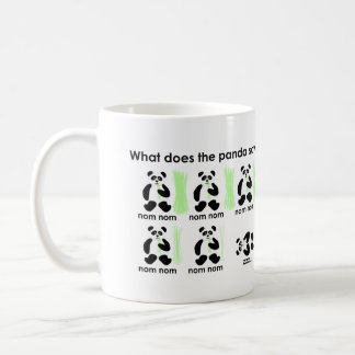 What does the panda say? coffee mug