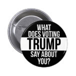 What Does Voting Trump Say About You 6 Cm Round Badge