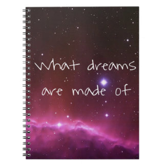 'What dreams are made of' night sky Notebook