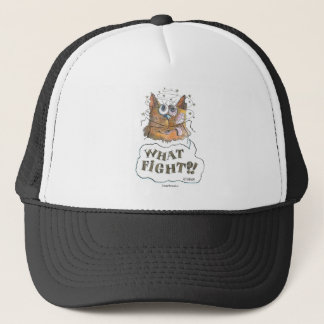 What Fight?! Tomcat Cartoon Trucker Hat