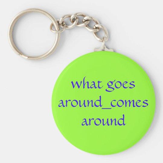 what goes around_comes around key ring