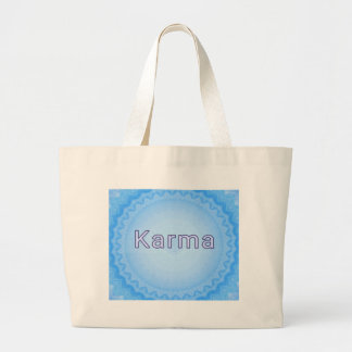 "What Goes Around...Soft Pastel Positive ""Karma"" Jumbo Tote Bag"