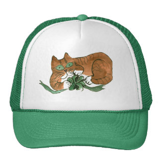 What Green Bow? asks Kitty Trucker Hat