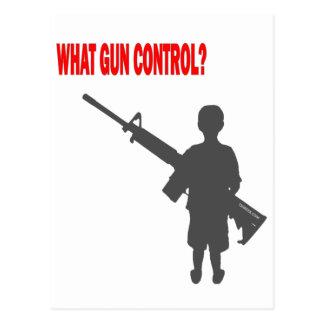 What Gun Control? Postcard