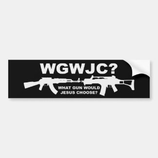 What Gun Would Jesus Choose? Bumper Sticker