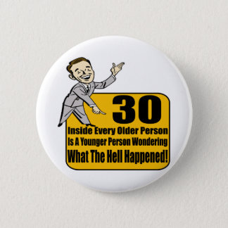 What Happened 30th Birthday Gifts 6 Cm Round Badge