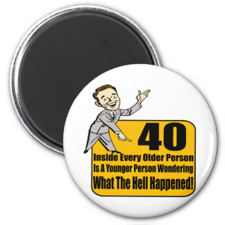 What Happened 40th Birthday Gifts 6 Cm Round Magnet