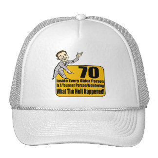What Happened 70th Birthday Gifts Cap