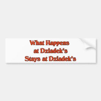 What happened at Dziadek s Stays at Dziadeks Bumper Stickers