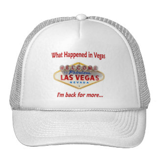 What Happened In Vegas, I'm back for more. CAP Mesh Hat