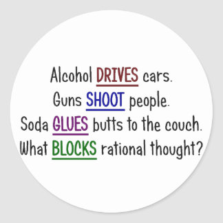What happened to rational thought round stickers