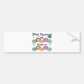 What Happens at Bingo Bumper Sticker