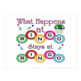 What Happens at Bingo Post Cards