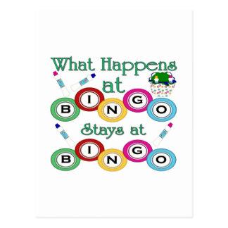 What Happens at Bingo Post Card