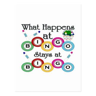 What Happens at Bingo Postcard