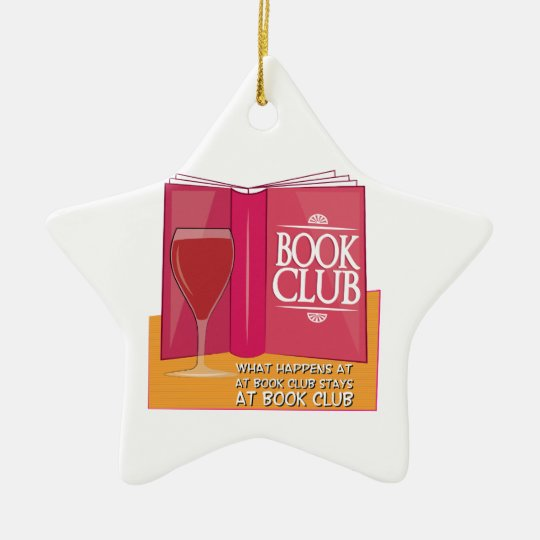 What Happens At Book Club Christmas Ornament