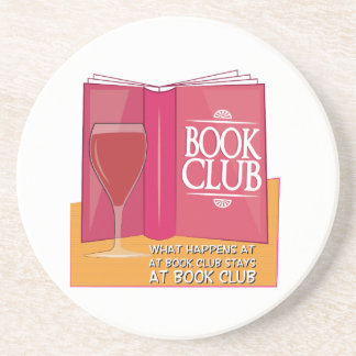 What Happens At Book Club Beverage Coasters