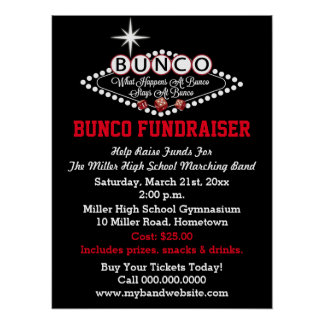What Happens At Bunco Fundraiser Poster
