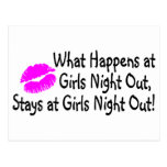 What Happens At Girls Night Out Stays At Girls Nig Post Card