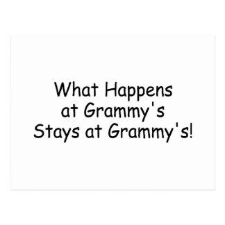 What Happens At Grammy Black Postcard