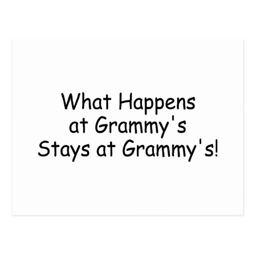 What Happens At Grammy Black Post Card
