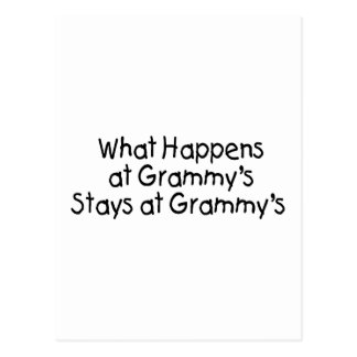What Happens At Grammys Black 2 Postcard