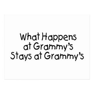 What Happens At Grammys Black 2 Postcard