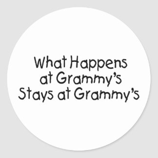 What Happens At Grammys Black 2 Round Sticker