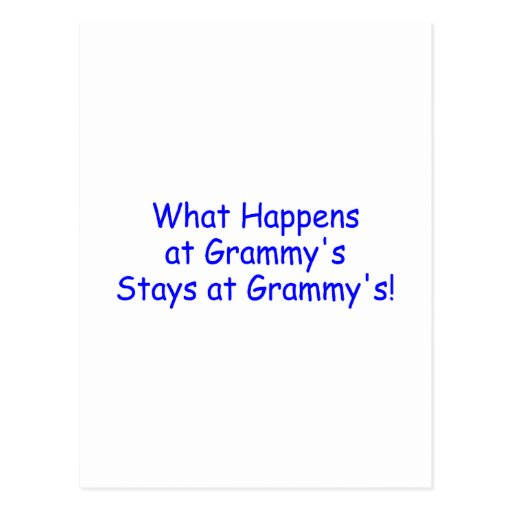 What Happens At Grammys Blue Postcards